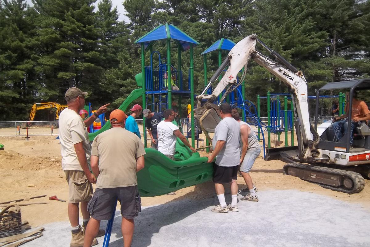 Hauling the slide
